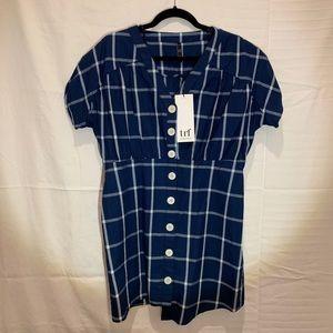 Zara Plaid Button Down Dress